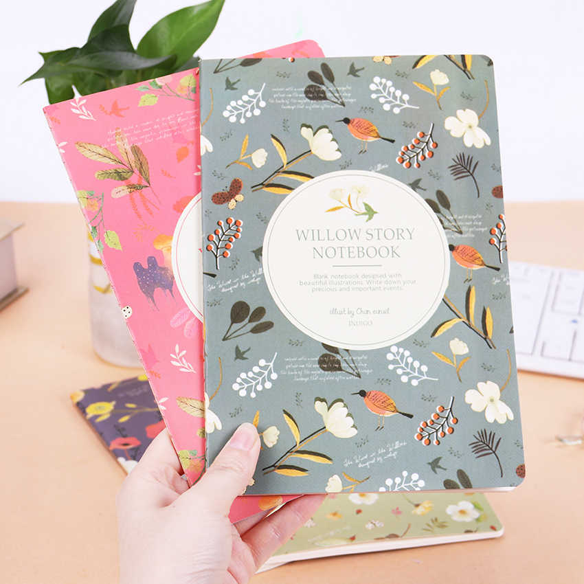 1PC Cute Kawaii Cartoon Animal Notebook Lovely Flower A5 Notepad for Kids Student Gift Korean Stationery