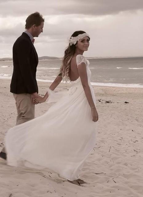 Trajes de novia en playa