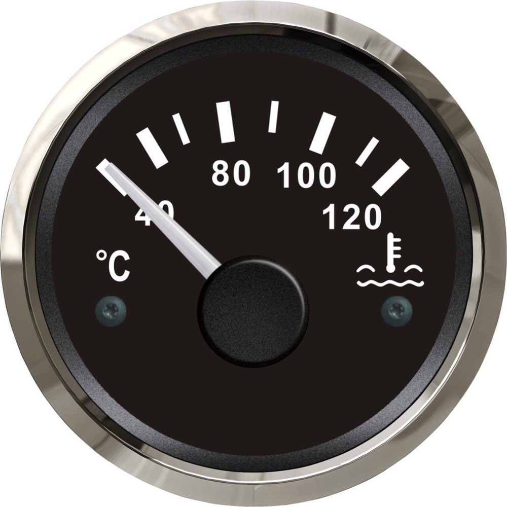 1pc auto gauges water temperature gauges 52mm pointer water temp meters 12v / 24v fit for auto or boat come with sensor come hell or high water