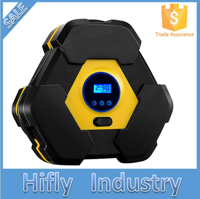 HF3603S Portable Digital Display Auto Air Compressor Pump DC 12V 150PSI for Vehicles Tires Balls Inflatable Objects