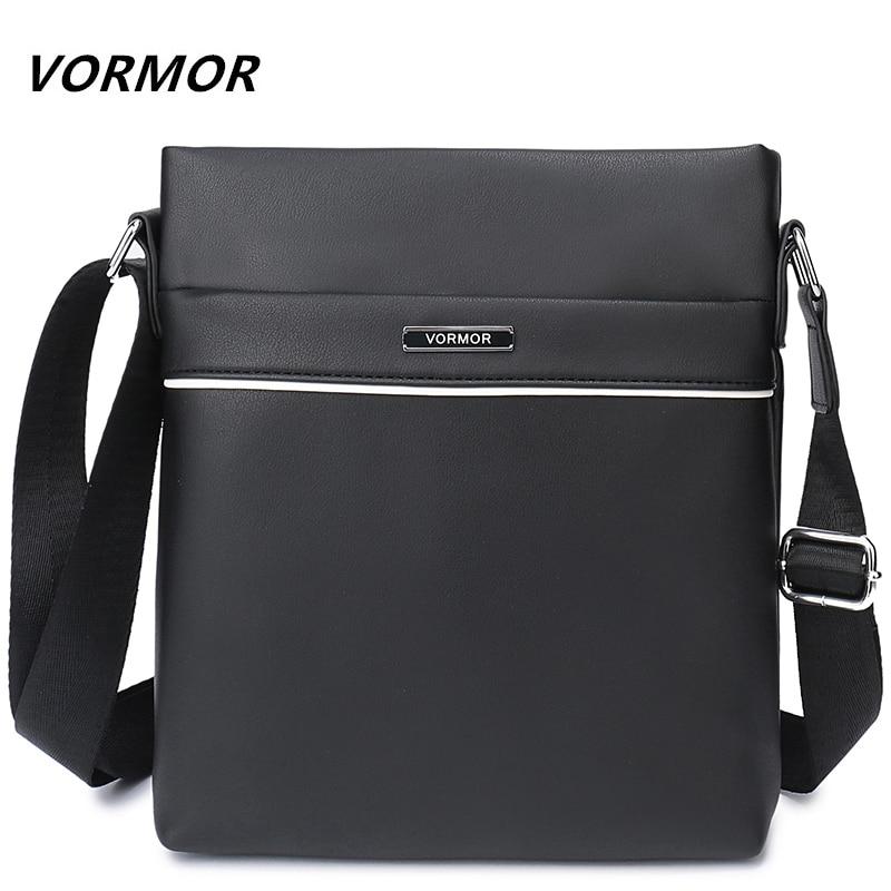 VORMOR Brand Leather Men Bag Casual Business Leather Mens Messenger Bag Vintage Men's Crossbody Bag bolsas male