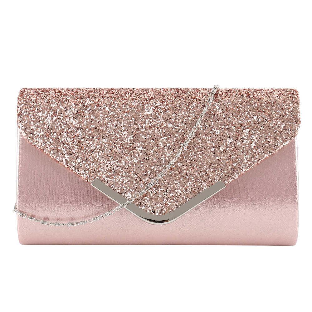 9d701392d Ladies Evening Clutch Diamante Female Handbag Vintage Chain Wallet Party  Envelope Phone Bag Bolsa Feminina