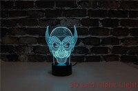 Darmowa wysyłka Party prezent 3D Cartoon kształt Led oświetlenie nocne 220 v z 3C i certyfikat UL YJM 2893 w Oświetlenie nocne LED od Lampy i oświetlenie na