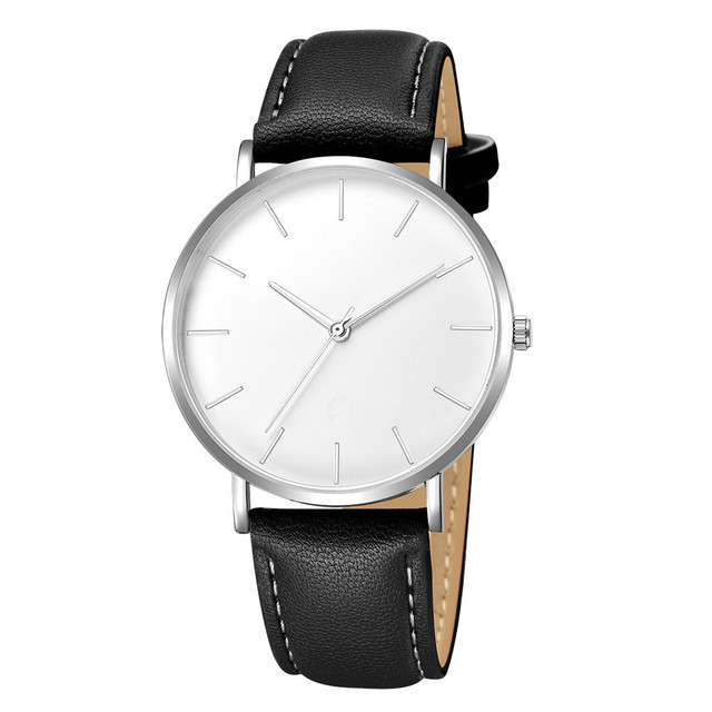 Geneva Fashion Men Date Alloy Case Synthetic Leather Analog Quartz Sport Watch mens watches top brand luxury Masculino Reloj 35