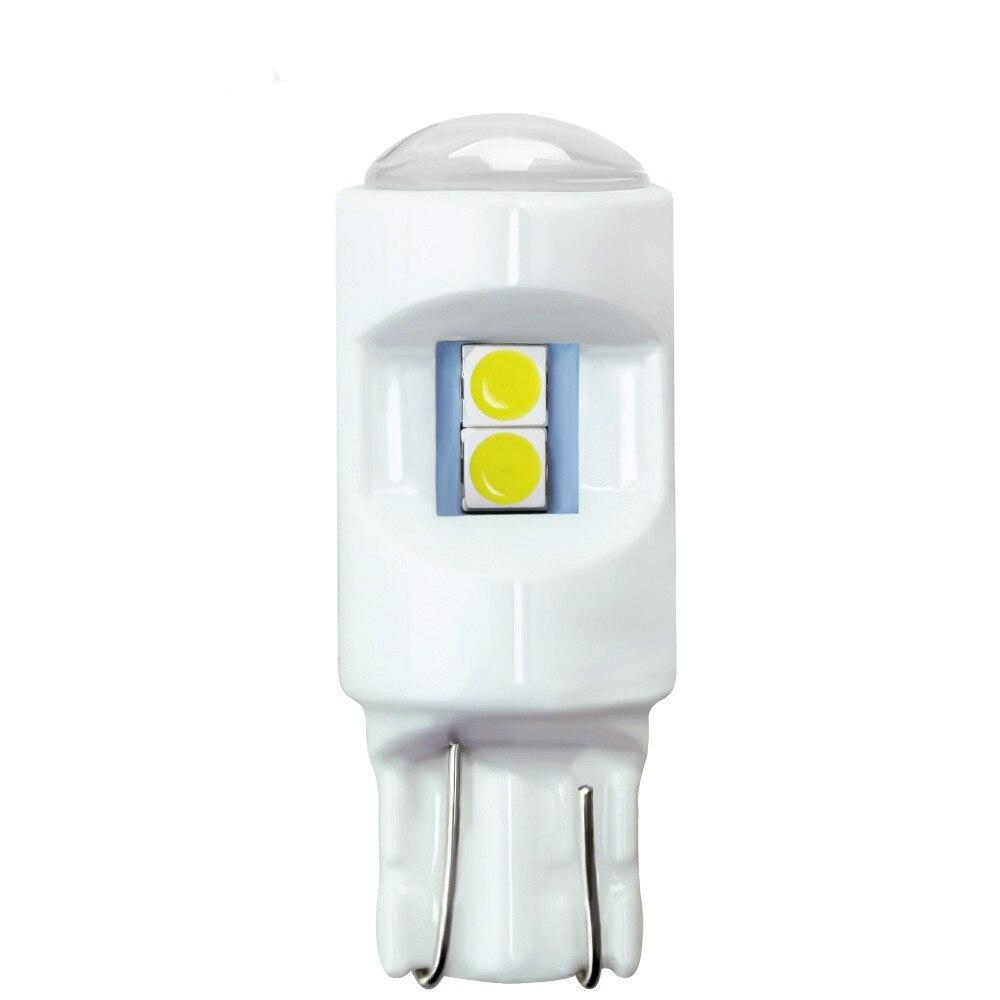 50x nouvelle céramique T10/W5W 3030 6SMD LED blanc bleu glace 12 V voiture auto moto dédouanement parking plaque d'immatriculation lumières ampoule