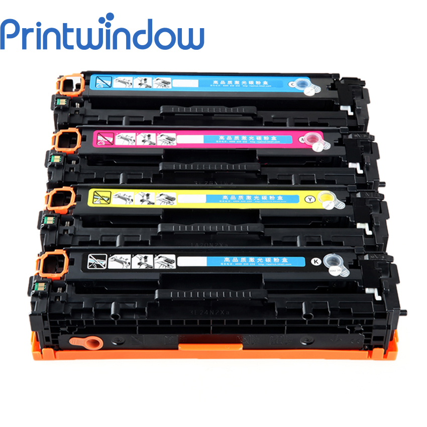 Printwindow Compatible Toner Cartridge CF210A CF211A CF212A CF213A for HP LaserJet Pro 200/M251/M267 4X/Set lcl 131x 131a cf210x cf210a cf211a cf212a cf213a 4 pack kcmy toner cartridge compatible for hp laserjet pro 200 color m251nw