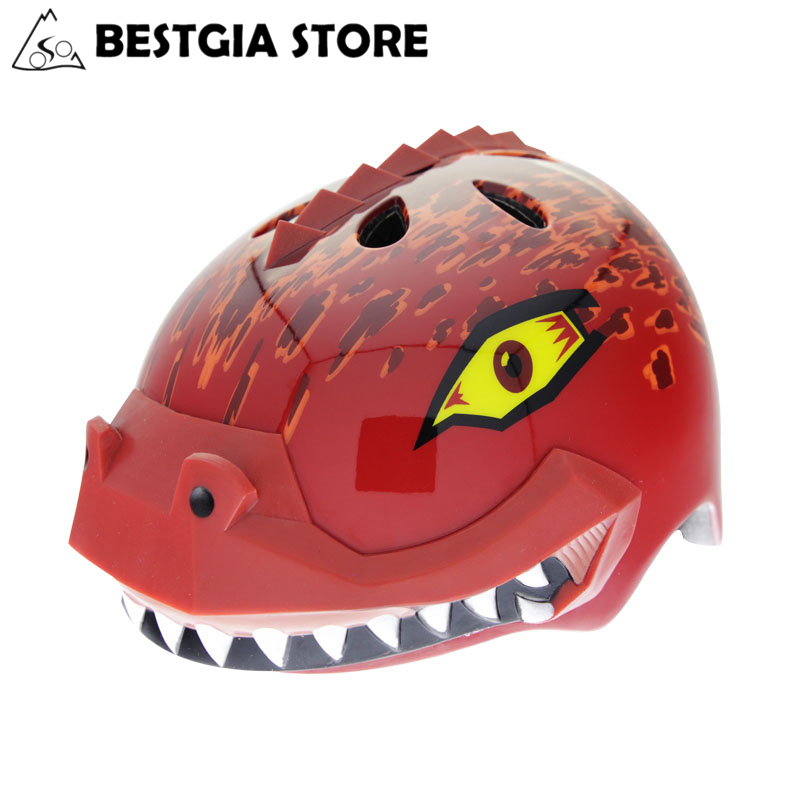 CE Cartoon Dinosaur Cycling helmet For Kids Outdoor Sport Skateboard Skating Riding Helmet Boys Girls Safety