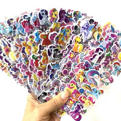 12 folhas/lote meu pequeno cavalo adesivos dos desenhos animados anime brinquedo menina para portátil bagagem skate pôneis 3d bolha adesivos