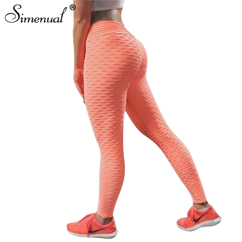 Simenual Push up leggings mujeres sportswear athleisure slim elastic fitness legging 2018 bodybuilding elástico pantalones de las mujeres venta