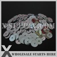 5mm Round Flat Loose Sequin For Shoe Bag Clothing Grey Metallic Bulk Wholesale