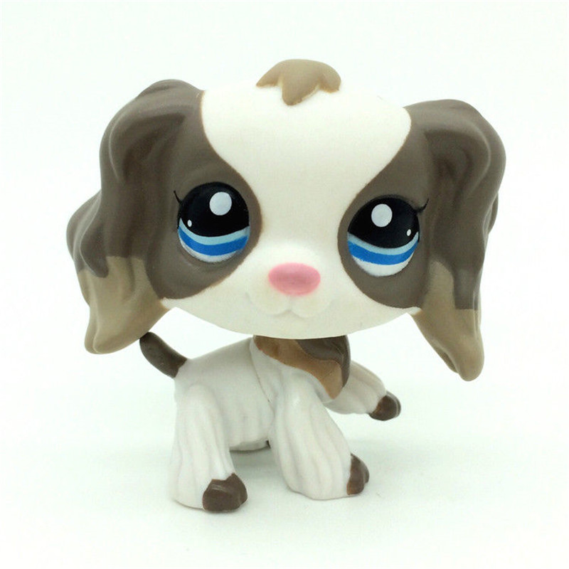 Pet shop New pet Genuine Original #2254 Cocker Spaniel Dog Puppy Grey Gray White Mocha Collection figure Toys pet shop toys dachshund 932 bronw sausage dog star pink eyes