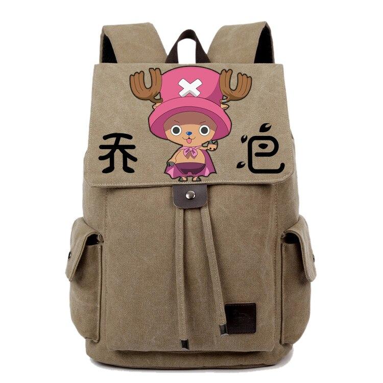 Anime une pièce Cosplay Tony Tony Chopper peint à la main homme et femme coréen marée étudiant sac bricolage sac à dos personnalisé
