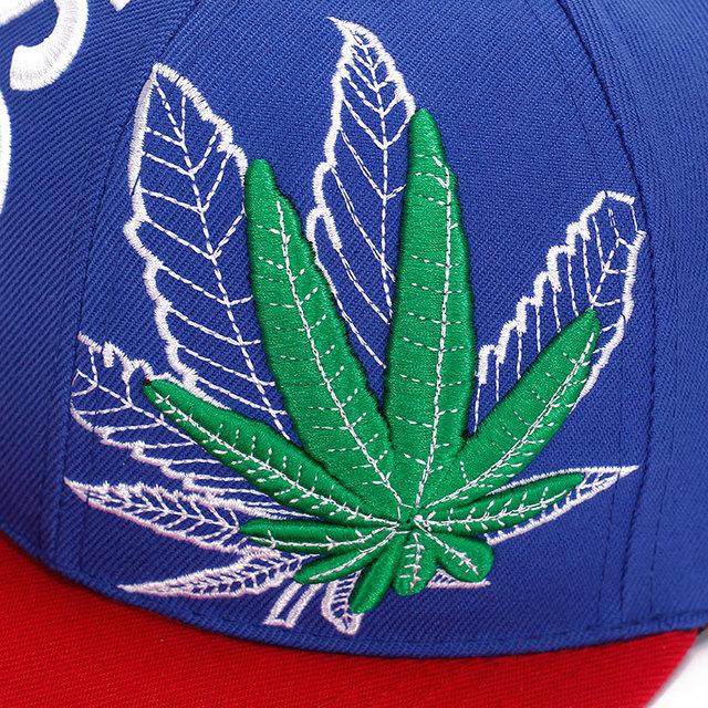 Women Men Vogue Sreet Hemp leaf Embroidery Baseball Caps Maple leaves Chapeu Gorras Casquette Hiking snapback cap Hip Hop hats