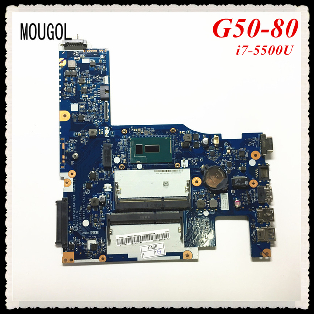 US $199 0  MOUGOL NM A362 mainboard For Lenovo G50 80 Laptop motherboard i7  5500 CPU 100% Work Free Shipping-in Motherboards from Computer & Office on