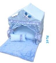 Washable dog house pet supplies new fashion Korean bed portable foldable lace princess