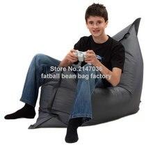 Серый открытый стул мешка фасоли, гостиная погремушка диван сиденье мебель, сад портативный патио диваны
