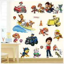 Background 3d-Stickers Patrol Wall-Decoration Children's-Room Waterproof Cartoon