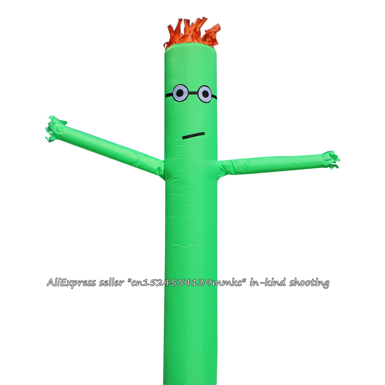 10FT 3M Air Dancer Sky Dancer Inflatable Tube Puppet Wind Flying For 45CM Blowe (Green)
