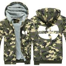 Wu Tang Symbol Hoodie Camouflage Winter Mantel Traditionellen Chinesischen Kultur Muster Verdicken Fleece US Plus Größe