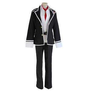 Image 2 - Anime Diabolik Lovers Sakamaki Ayato Cosplay Costume School Uniforms Halloween Party Wear Outfit Blazer Pants Tie Belt and wig