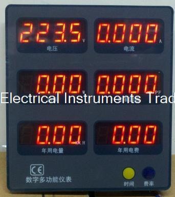 6 in 1 LED display box display cabinets display power meter power factor embedded tester voltage current цены