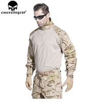 EMERSONGEAR G3 Airsoft Uniform Airsoft Shirt Pants with Knee Pads Hunting Tactical Combat Clothes Multicam Arid EM7042 EM9255