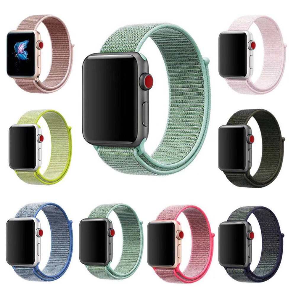 New Arrival Nylon Sport Loop Replacment Band for Apple Watch Series 1/2/3/4 Lightweight Soft Breathable Woven Strap 38/42/40/44