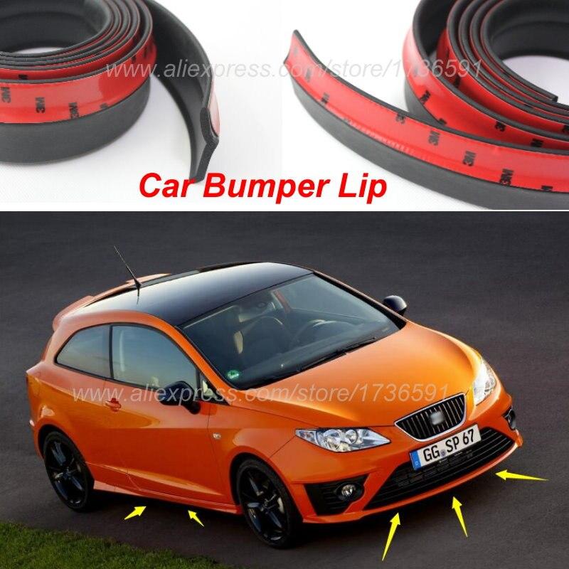Free Shipping For SEAT Ibiza / Bumper Lip / Make car lower Body Kit / Front / Rear Skirt Spoiler / Bumper Deflector Rubber Strip Мельница
