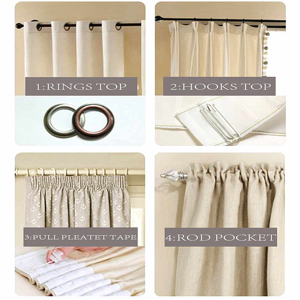 MRTREES White Embroidered Sheer Window Curtains for Living Room Bedroom Kitchen Tulle Window Curtains for Window Cortinas drapes