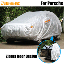 Buildreamen2 Waterproof Car Cover Outdoor Indoor Sun Rain Snow Protection Cover Dust Proof For Porsche Cayenne Panamera Macan
