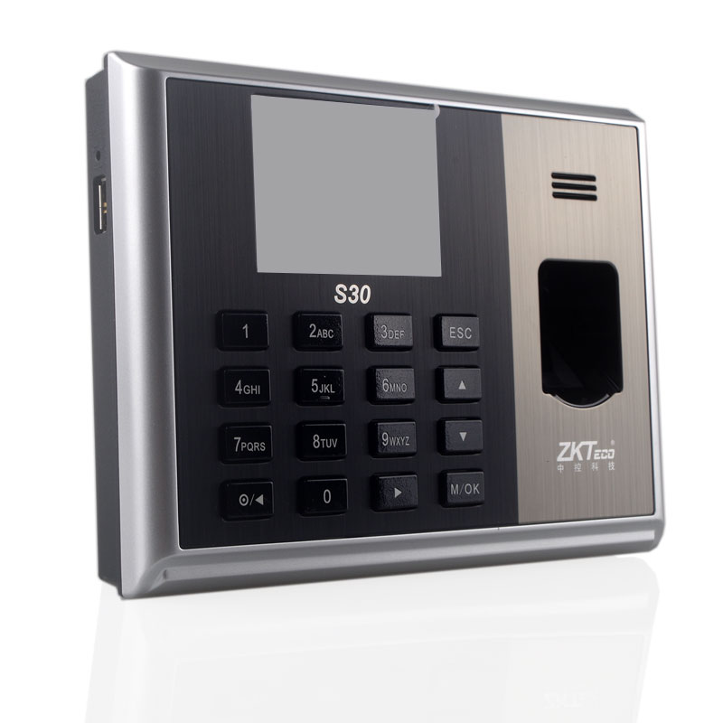 Fingerprint Time Attendance Biometric Time Clock by Finger Network Professional Finger realand ZK S30 Linux System