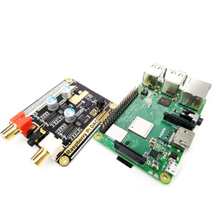 Image 4 - Volumio moode פטל Pi DAC פטל Pi 3B + HIFI הכפול DAC פענוח I2S עם 5V DC כוח פסק אספקת F6 006