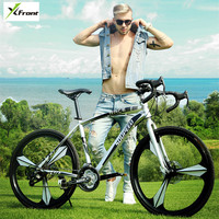 New Brand Road Bike Carbon Steel Frame 27 Speed 26 Inch Wheel Dual Disc Brake Bicycle
