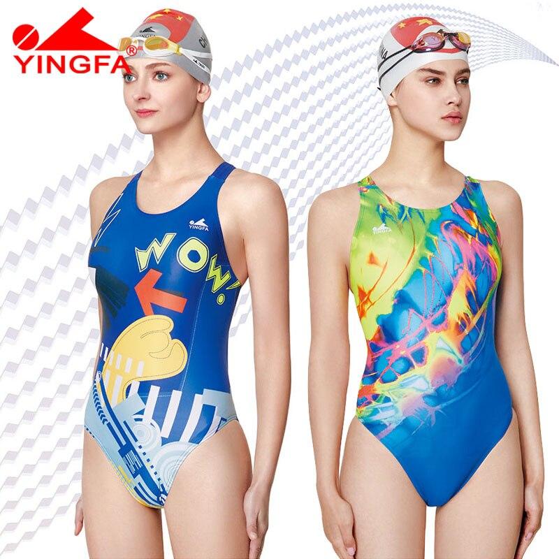 d5783a8afe7a Yingfa 2018 traje de baño para mujer trajes de baño para niños de carreras  traje de baño competitivo para niñas entrenamiento de competición ...