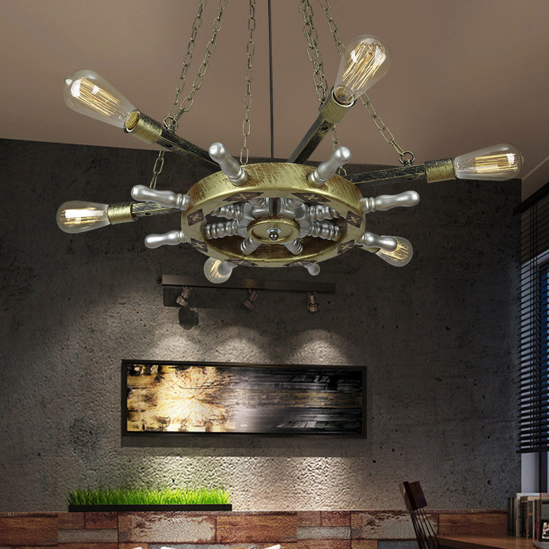 Edison Loft Style Vintage Pendant Light Fixtures RH Retro Industrial Metal Wood Hanging Lamp Luminaire Lamparas Colgantes rh loft edison industrial vintage style 1 light tea glass pendant ceiling lamp hotel hallway store club cafe beside