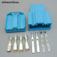 Shhworld 5/30/100 комплектов  4-контактный автомобильный разъем 2 8 мм  разъем для автомобильного динамика  автомобильный басовый разъем  Автомобиль...