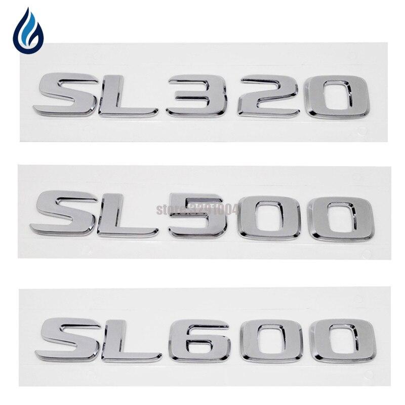 Car Styling For Mercedes Benz SL320 SL500 SL600 Discharge Capacity Refitting Emblem Sticker For W204 W203 W211 W210 W212 W205 auto fuel filter 163 477 0201 163 477 0701 for mercedes benz
