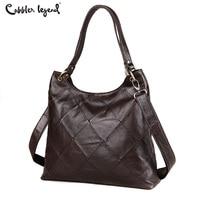 Cobbler Legend Diamond Genuine Leather Luxury Handbags Women Tote Bags Metal Ring Designer Casual Big Shoulder