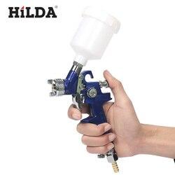 HILDA HVLP Spritzpistole 0,8mm/1,0mm Düse H-2000 HVLP Spritzpistole Mini Luft Farbe Spray Pistolen Airbrush für Malerei Auto Aerograph