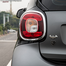 Car taillight decorative frame ABS plastic modification accessories for Mercedes Smart Fortwo 453 Rear headlight car styling