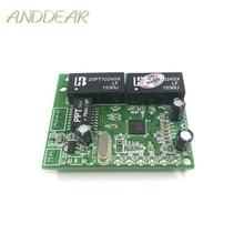 3/4/5 port 10/100 Mbps dellintestazione di pin micro interruttore modulo mini compact 3.3V5V9V12V ingegneria server 5 porte switch ethernet