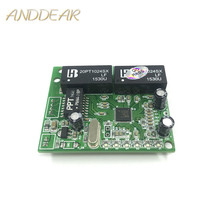 3/4/porta 5 10/100 Mbps cabeçalho pin interruptor micro módulo mini compact 3.3V5V9V12V engenharia servidor 5 porta do switch ethernet