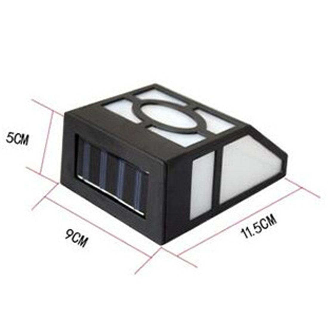 Waterproof Mounted Solar LED Panel Lamp Sensor Outdoor Fence Wall Lamp Lighting LED Garden Light