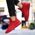 Lightweight Mesh Men Casual Shoes Summer Soft Comfortable Shoes Red Bottom Sport Shoes for MensLoafers Outdoors Flats zapatillas