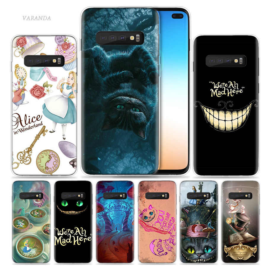 Alice in Wonderland punk Case for Samsung Galaxy S8 S9 S10 5G S10e S7 Note 8 9 10 J4 J6 Plus J5 J8 2018 J3 Silicone Phone Bags