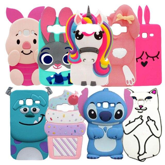 6bd2a3e3d35 3D de dibujos animados de silicona Minnie Mouse Minions KT caja del  teléfono para Samsung Galaxy
