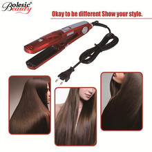 On sale Professional 1pcs Fast Steam Hair Straighteners Iron Curlers  Electric Straightening Brush Straightener Comb EU/US Plug