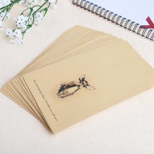 Buy Deer Envelope 12 pcs/lot Paper 4 Designs Cute Mini Envelopes Vintage European Style For Card Scrapbooking Gift directly from merchant!