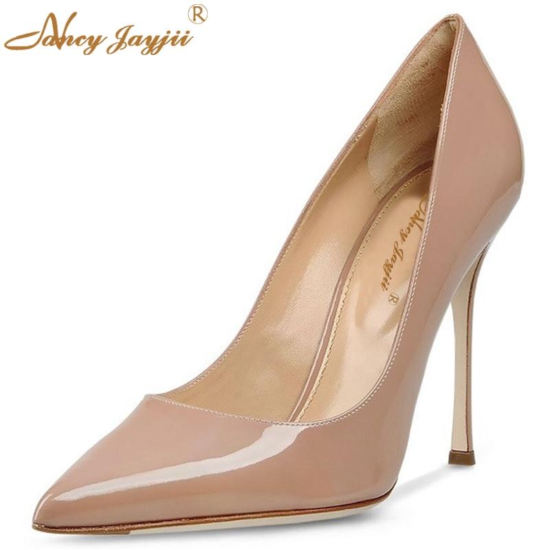 ФОТО Nancyjayjii Lady Fashion Shoes Women Nude&Blue Pointed Toe Sexy High Heels Dress&Party&Wedding Platforms Pumps 15CM,Size 33