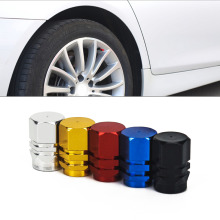 цена 4Pcs Universal Aluminum Car Tyre Air Valve Caps Bicycle Tire Valve Cap Car Wheel Styling Round Red Black Blue Silver Gold онлайн в 2017 году